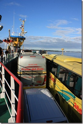 Sur le ferry au retour