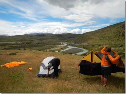 Tentative de sechage de tente...