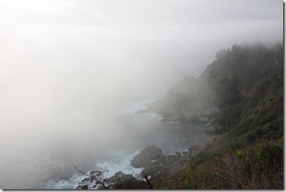 Pacific Coast Highway... dans le brouillard